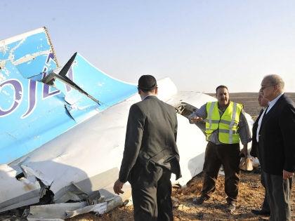 Обломки А321, взорванного в небе Египта // Global Look Press
