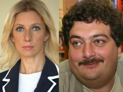 Мария Захарова и Дмитрий Быков // МИД РФ / Global Look Press