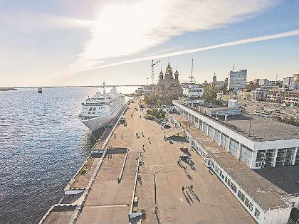 Морской-речной вокзал в Архангельске // Русский взгляд
