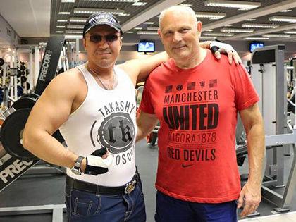 Алексей Дайнеко и Геннадий Малахов занимались спортом вместе // Личная страница Алексея Дайнеко в Facebook