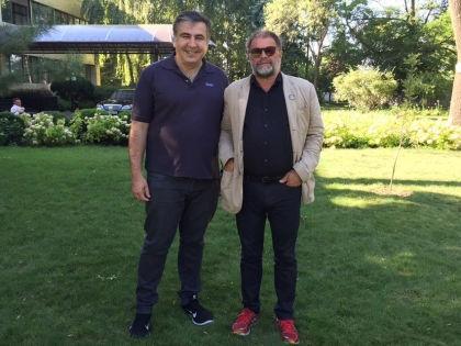 Михаил Саакашвили и Борис Гребенщиков // официальная страница Михаала Саакашвили в Facebook