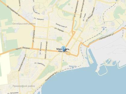 Мост через речку Кальчик был подорван в 01:40 // Яндекс.Карты