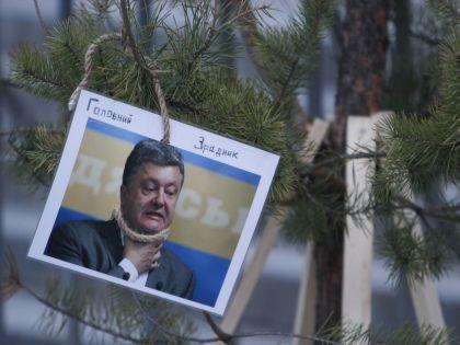 В Киеве противники украинского президента уже установили свою елку // Назар Фурик / Global Look Press