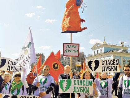 На общегородском митинге против точечной застройки // Спасем парк «Дубки» / Facebook