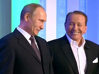 Владимир Путин и Александр Масляков // Стоп-кадр «Первого канала»