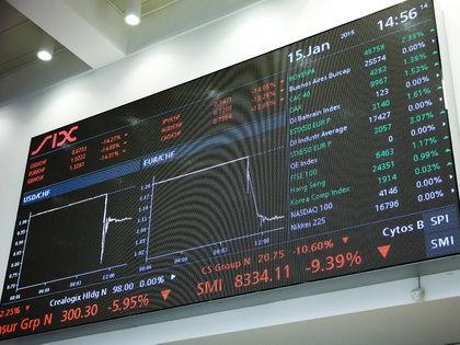 Решение Национального банка Швейцарии существенно повлияло на мировые финансовые рынки // Global Look Press