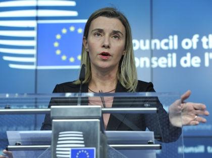Могерини заявила, что решение о введении новых санкций будет принято в ближайшие часы // Global Look Press