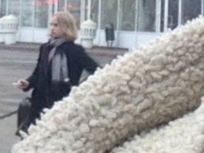 Девушка с сигаретой, похожая на Сычёву // Соцсети