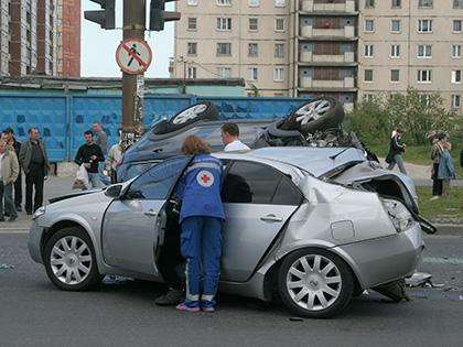 Две машины столкнулись под Петербургом 14 августа // Замир Усманов / Global Look Press
