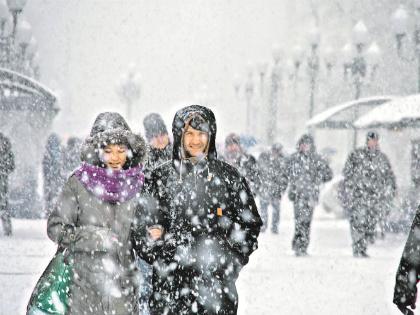 Ледяные дожди в Москве, 30-градусные морозы на Урале, многодневные снегопады в Южной Сибири – осень в этом году выдалась необычная // Global Look Press