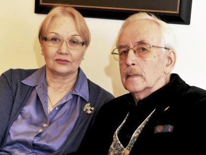 Василий Ливанов с женой Еленой // Global Look Press