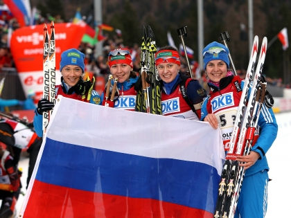 Российские биатлонистки  // Global Look Press