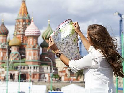 Туристка в Москве // Global Look Press
