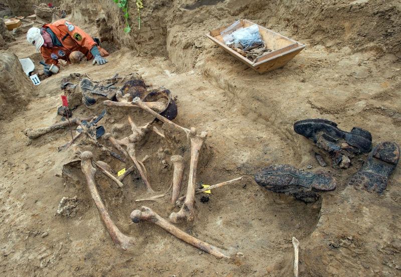 500 останков нашли под Новгородом // Global Look Press