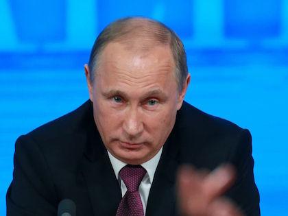 Владимир Путин на пресс-конференции в 2014 году //  Дмитрий Голубович / Global Look