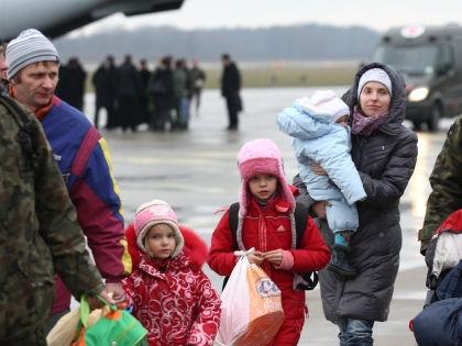 Украинские беженцы // Global Look Press