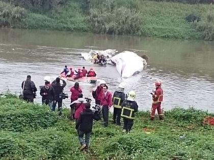 Спасательная операция после крушения самолета на Тайване // Global Look Press