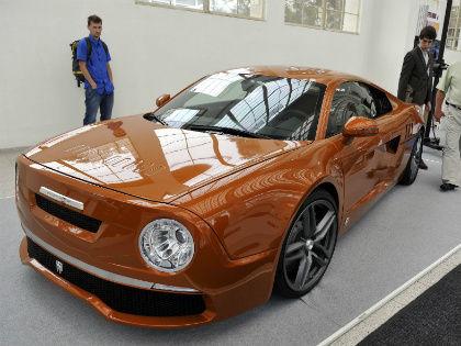 Автомобиль AUDI R8, отдельные комплектующие которого были сделаны с использованием 3D-печати, был представлен на 57-й международной инженерной торговой выставке MSV и Международной экологической выставке в Брно 15 сентября 2015 года // Global Look Press