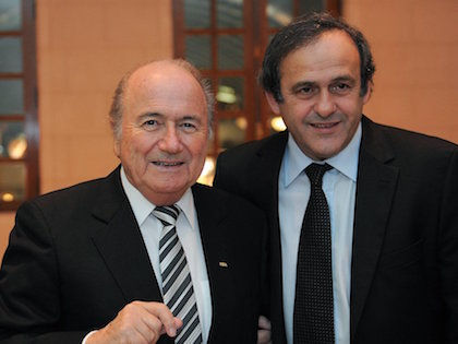 Президент ФИФА Йозеф Блаттер и глава УЕФА Мишель Платини //  Global Look