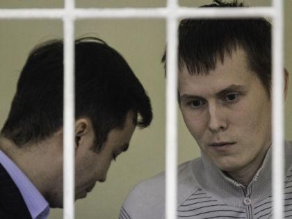 Евгений Ерофеев и Александр Александров во время заседания суда в Киеве // Global Look Press