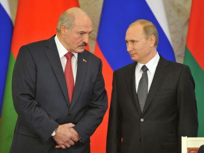 Президент Белорусcии Александр Лукашенко и президент РФ Владимир Путин // Global Look Press