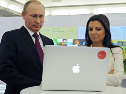 Владимир Путин и главный редактор Russia Today Маргарита Симоньян // Mikhail Klimentyev / Global Look Press