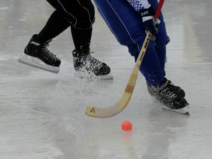 В матче чемпионата России по хоккею с мячом архангельский «Водник» и иркутская «Байкал-Энергия» 20 раз забили в собственные ворота // Global Look Press