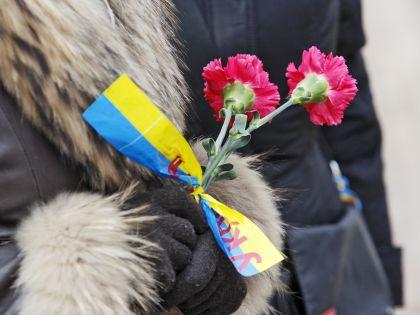 """Накануне в Киеве отметили вторую годовщину Майдана и почтили память погибших в те дни – """"Небесной cотни"""" // Serg Glovny / Global Look Press"""