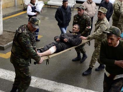 Раненные участники конфликта в Нагорном Карабахе // Тофик Бабаев / Global Look Press