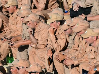 Российские военные в Сирии на выступлении Валерия Гергиева 5 мая 2016 года // Global Look Press