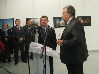 Посол РФ в Турции Андрей Карлов за секунды до гибели // Global Look Press