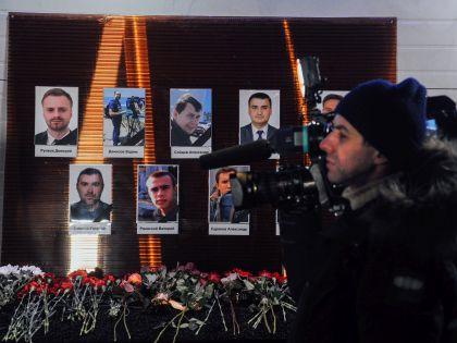 Среди погибших на борту Ту-154 были девять журналистов: на фото – траурные мероприятия в «Останкине» // Антон Белицкий / Global Look Press