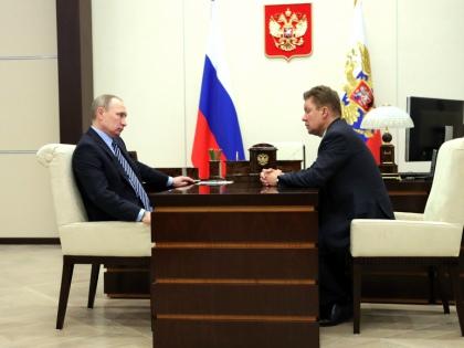 Владимир Путин и глава «Газпрома» Алексей Миллер // Global Look Press