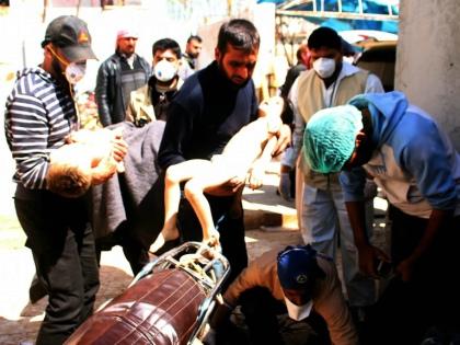 Кадры последствий химатаки в Идлибе облетели весь мир // Global Look Press