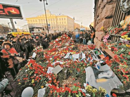 6 апреля в Москве состоялся митинг памяти жертв теракта в Петербурге // Global Look Press