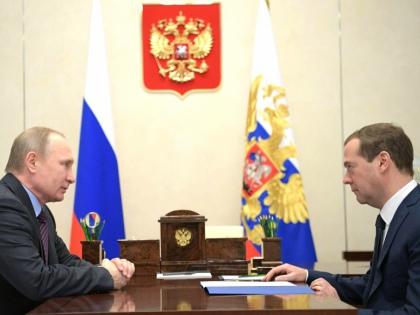 Владимир Путин и Дмитрий Медведев // Global Look Press