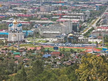 Так ,жно-Сахалинск выглядит из кабины фуникулера // архив редакции