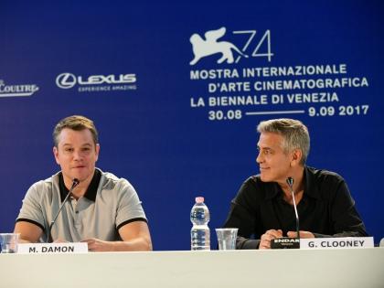 Мэтт Дэймон и Джордж Клуни // пресс-служба Венецианского кинофестиваля
