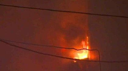 Пожар на Стромынке 31 января 2016 года // Стоп-кадр YouTube