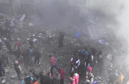 Двойной теракт в Хомсе // Стоп-кадр YouTube