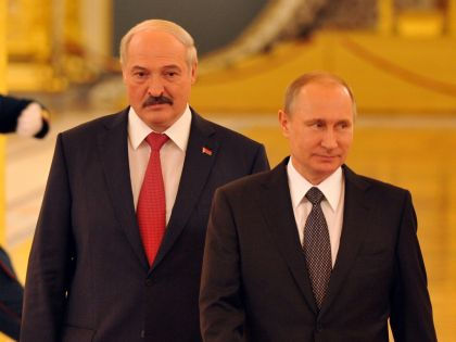 Александр Лукашенко и Владимир Путин в Минске // Global Look Press