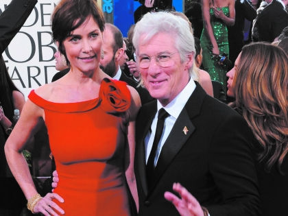 Ричард Гир и Кэри Лоуэлл // Global Look Press