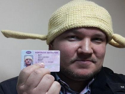 Андрей Филин с правами // Страница Филина в Twitter