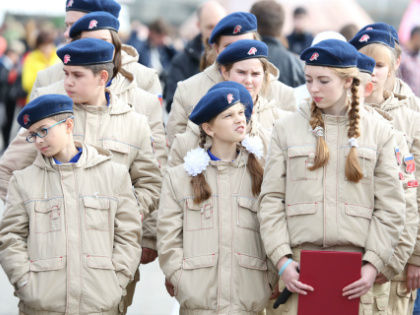 Всероссийское военно-патриотическое движение «Юнармия» было создано в 2015-м по инициативе министра обороны Сергея Шойгу // Александр Алешкин / «Собеседник»
