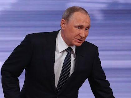 Президент России Владимир Путин на пресс-конференции //  Александр Алёшкин / Собеседник