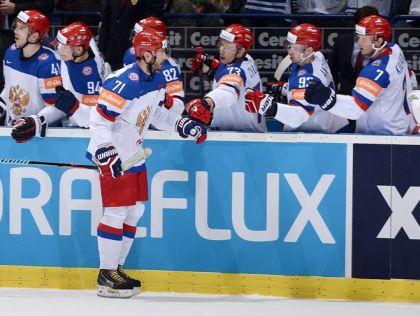 Начал разгром белорусов Илья Ковальчук (на фото), а довершил Евгений Малкин, прервав безголевую серию в 18 игр // Richard Wolowicz / HHOF-IIHF Images