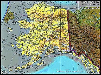 Карта Аляски //