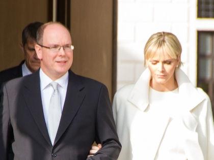 Альбер II и его жена княгиня Шарлин // Global Look Press