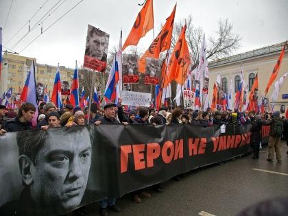 Борис Немцов был убит 27 февраля на Большом Москворецком мосту //  Алексей Бойцов / Russian Look