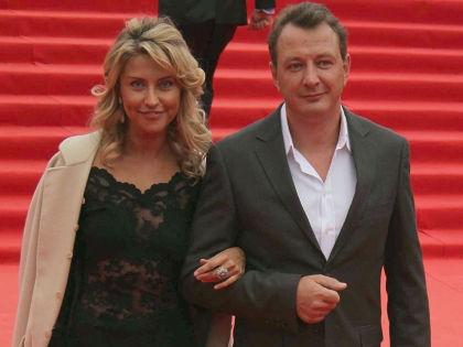 Марат Башаров с женой //